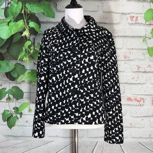 Max Mara Black & White Printed Blazer Jacket